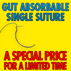 SUTURE,GUT,3-0,CUTTING NEEDLE,EACH