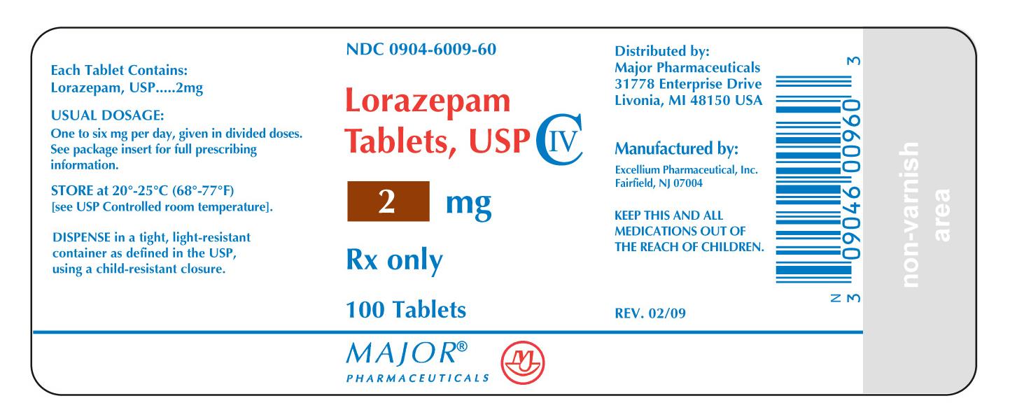 RX CIV LORAZEPAM 2MG 100 TABLETS