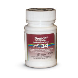 RXV DRONCIT CANINE 34MG 50 TABLETS
