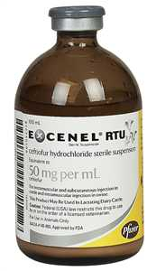 Excenel (Ceftiofur HCl) Injection 50mg/ml, 100ml