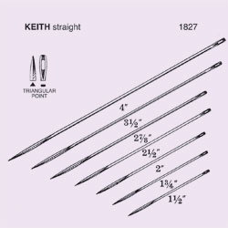 NEEDLE,SUTURE,NS,KEITH,STRAIGHT ABDOMINAL,TRIANGULAR POINT,SIZE 2.5,12PK
