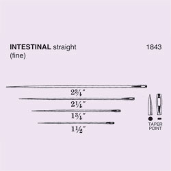 NEEDLE,SUT,STRL,INTESTINAL FINE, STRAIGHT TAPER POINT,SIZE 1.5,40/BX