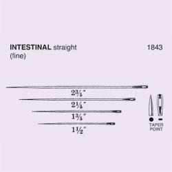 NEEDLE,SUT,NON-STRL,INTESTINAL FINE, STRAIGHT TAPER POINT,SIZE 1.5,12/PK
