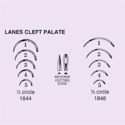 NEEDLE,SUT,NON-STRL,LANES CLEFT PALATE,1/2 CIRCLE REV CUT EDGE,SZ 3,12/PK