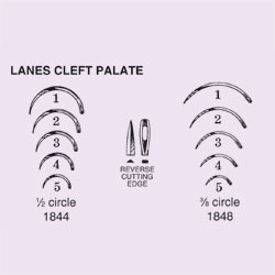 NEEDLE,SUTURE,NS,LANE CLEFT PALATE,3/8 CIRCLE REV CUTTING EDGE,SIZE 3,12PK