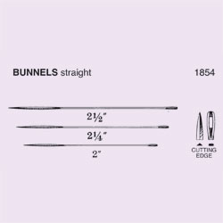 NEEDLE,SUT,NON-STRL,BUNNELS, STRAIGHT TRIANGULAR POINT,SIZE 2,12/PK