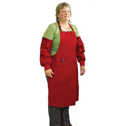 APRON,SMALL APRON & SLEEVES - RED