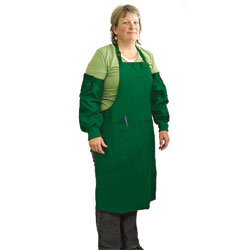 APRON,LARGE APRON & SLEEVES - GREEN