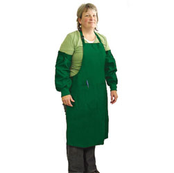 APRON,EX LARGE APRON WITH SLEEVES - GREEN