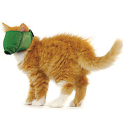 MUZZLES,SMALL QUICK CAT MUZZLE GREEN