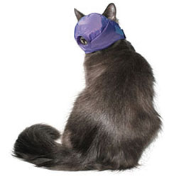 MUZZLES,LARGE QUICK CAT MUZZLE BLUE