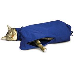 SACK,CAT,LARGE CAT SACK WITH FULL UNDERSIDE ZIP - BLUE