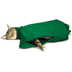 Cat Sack With Full Underside Zip, X-Large, Green