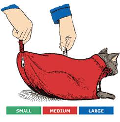 SACK,CAT,3-CAT SACK SET WITH ZIPPER (S,M,L,)