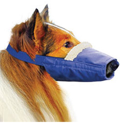 Cozy Long-Snouted Quick Muzzle For Dogs, Large, Blue