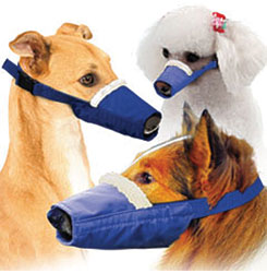 Long-Snouted Cozy Quick Muzzle Set For Dogs, Set of 3, Blue