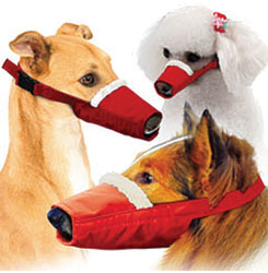 Long-Snouted Cozy Quick Muzzle Set, Set of 3, Red