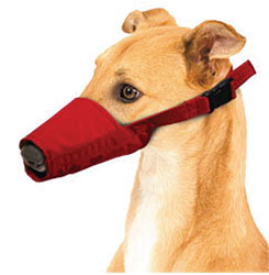 MUZZLES,MEDIUM LONG-SNOUTED QUICK MUZZLE FOR DOGS RED