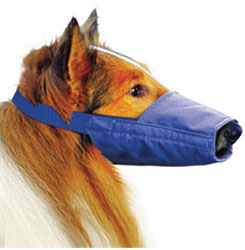 Long-Snouted Quick Muzzle For Dogs, Large, Blue