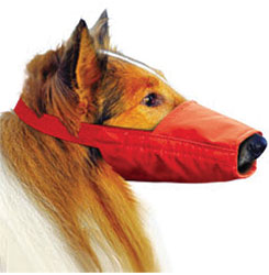 Long-Snouted Quick Muzzle For Dogs, Large, Red