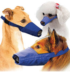 MUZZLES,LONG-SNOUTED 3-QUICK MUZZLE SET FOR DOGS BLUE
