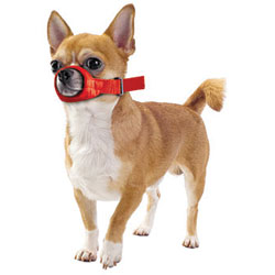 Quick Muzzle For Dogs, XX-Small, Red