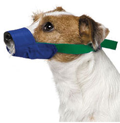 MUZZLES,SMALL COLOR-CODED QUICK MUZZLE FOR DOGS