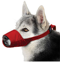 Quick Muzzle For Dogs, Large, Red