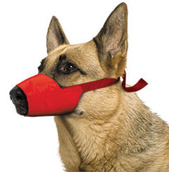 MUZZLES,EX-LARGE QUICK MUZZLE FOR DOGS RED