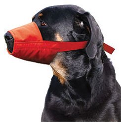 MUZZLES,XXLARGE QUICK MUZZLE FOR DOGS RED