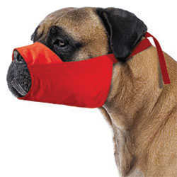 MUZZLES,4XL QUICK MUZZLE FOR DOGS RED