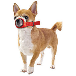 Cozy Quick Muzzle For Dogs, XX-Small, Red