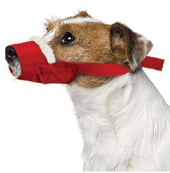 Cozy Quick Muzzle For Dogs, Small, Red