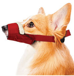 Cozy Quick Muzzle For Dogs, Medium, Red