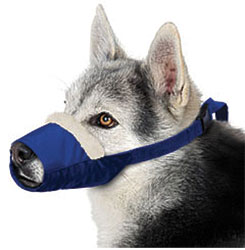 Cozy Quick Muzzle For Dogs, Large, Blue