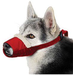 Cozy Quick Muzzle For Dogs, Large, Red