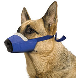 Cozy Quick Muzzle For Dogs, X-Large, Blue
