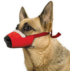 Cozy Quick Muzzle For Dogs, X-Large, Red
