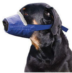 Cozy Quick Muzzle For Dogs, XX-Large, Blue