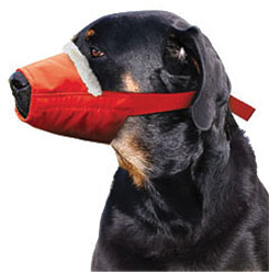 XXLarge/Cozy Quick Muzzle For Dogs, XX-Large, Red