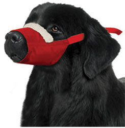 MUZZLES,XXXLARGE/COZY QUICK MUZZLE FOR DOGS RED