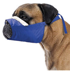 MUZZLES,4XLARGE/COZY QUICK MUZZLE FOR DOGS BLUE
