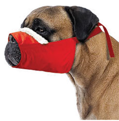 MUZZLES,4XLARGE/COZY QUICK MUZZLE FOR DOGS RED