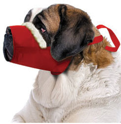 MUZZLES,5XLARGE/COZY QUICK MUZZLE FOR DOGS RED