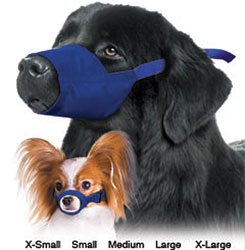 Quick Muzzle Set For Dogs Color-Coded, Set of 7