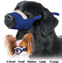 Cozy Quick Muzzle For Dogs, Set of 7, Blue