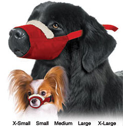 Cozy Quick Muzzle For Dogs, Set of 7, Red