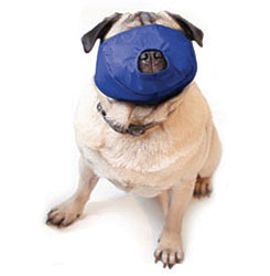 Pug-Nosed Quick Muzzle For Dogs, Large, Blue