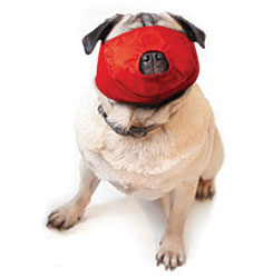 Pug-Nosed Quick Muzzle For Dogs, Large, Red