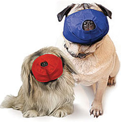 Pug-Nosed Quick Muzzle For Dogs Color-Coded, Set of 2